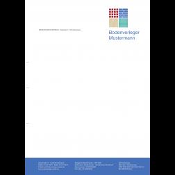 Briefbogen01 - 1stg - 4/0fbg -Fliesen