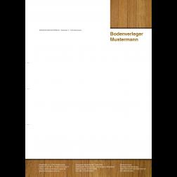 Briefbogen02 - 1stg - 4/0fbg -Holz